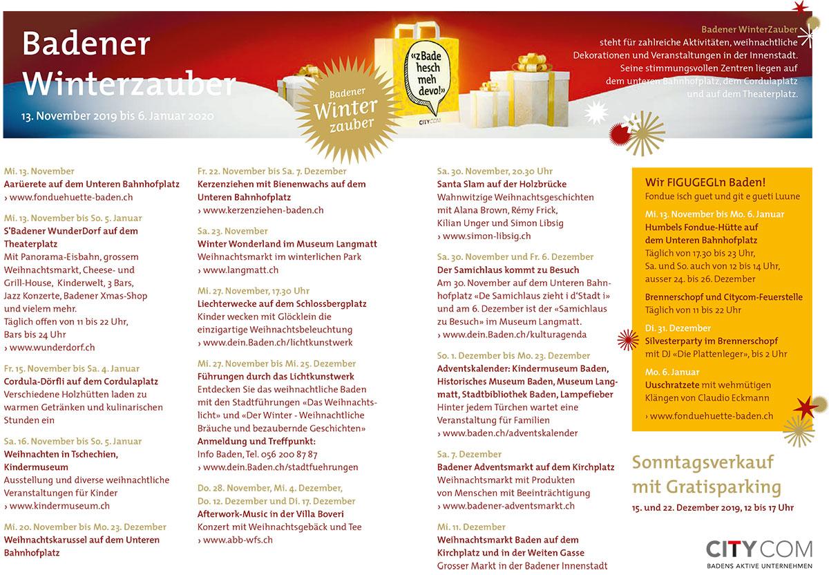 Badener Winterzauber Programm